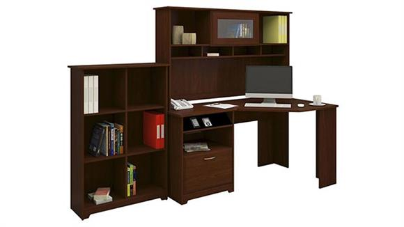 Corner Desks Bush Furniture Corner Desk with Hutch and Bookcase