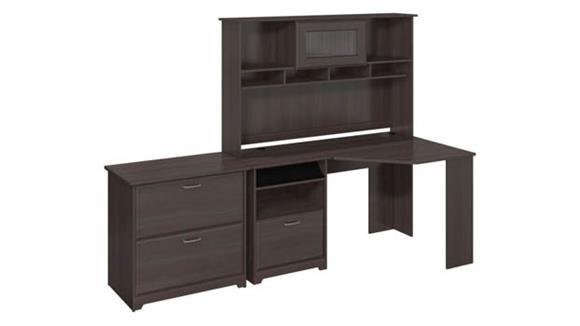 Corner Desks Bush Furniture Corner Desk with Hutch and Lateral File