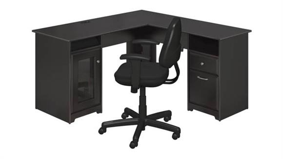 L Shaped Desks Bush Furniture L Shaped Desk and Office Chair