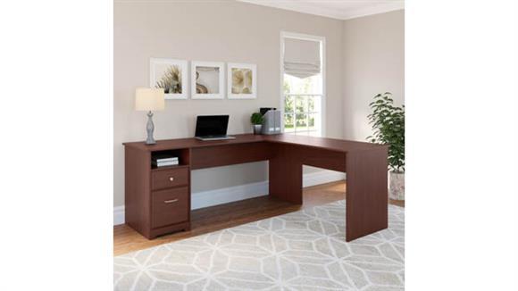 "L Shaped Desks Bush Furniture 72""W L Shaped Computer Desk with Drawers"