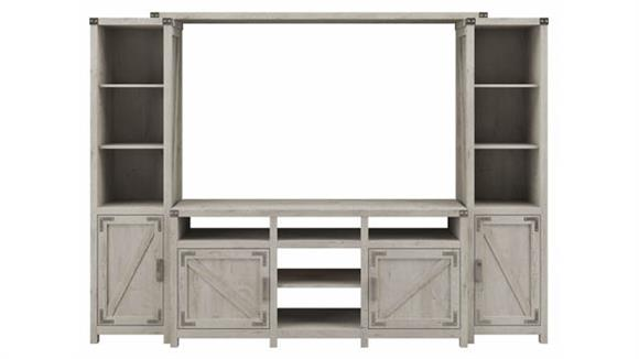 """TV Stands Bush Furniture 65""""W Farmhouse TV Stand with Shelves Entertainment Center"""