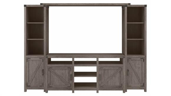 """TV Stands Bush Furniture 65"""" W Farmhouse TV Stand with Shelves Entertainment Center"""