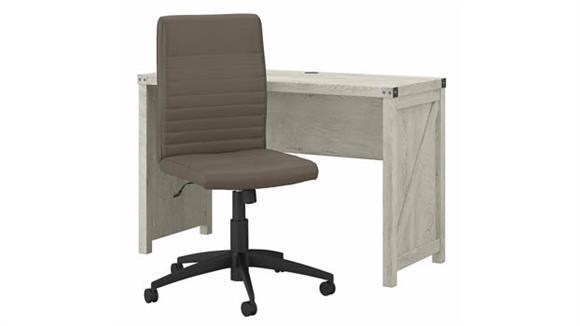 "Writing Desks Bush Furniture 48"" W Farmhouse Writing Desk and Chair Set"