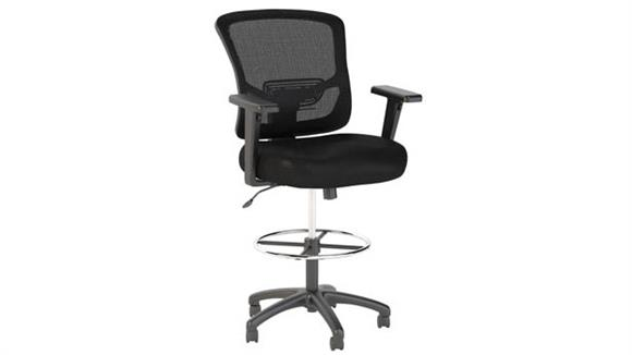 Office Chairs Bush Furniture Mesh Back Drafting Chair with Chrome Foot Ring