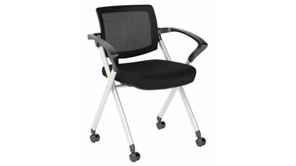 Stacking Chairs Bush Furniture Corporate Mesh Back Folding Office Chairs - Set of 2
