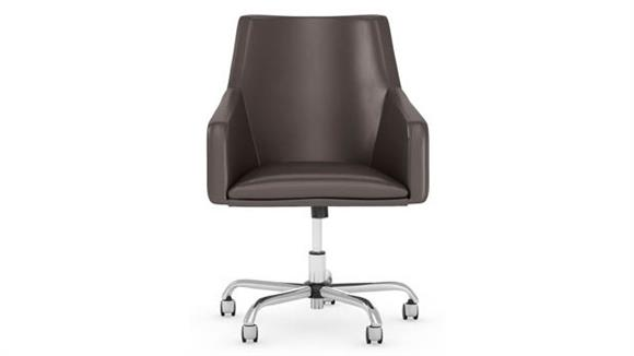 Office Chairs Bush Furniture Mid Back Leather Box Chair