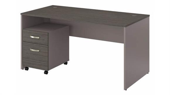 "Computer Desks Bush Furniture 60""W Office Desk with Mobile File Cabinet"