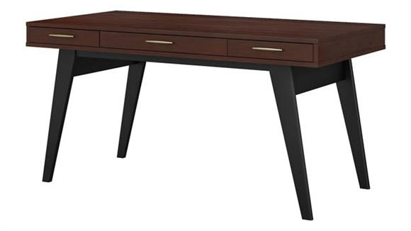 "Writing Desks Bush Furniture 60""W x 30""D Writing Desk with Drawers"
