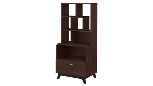 File Cabinets Lateral Bush Furniture Lateral File Cabinet with Bookcase Hutch
