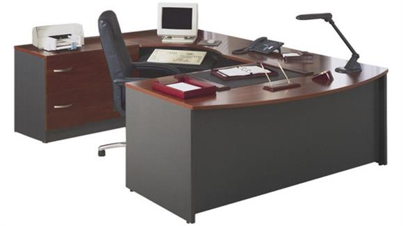 U Shaped Desks Bush Furniture Bow Front U Shaped Desk