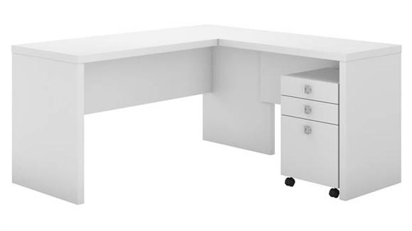 L Shaped Desks Bush Furniture L Shaped Desk with Mobile File Cabinet