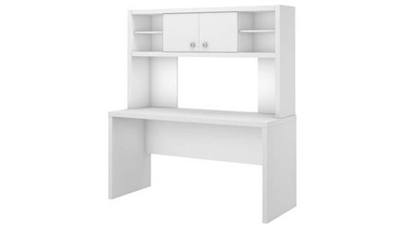 """Executive Desks Bush Furniture 60"""" W Credenza Desk with Hutch"""