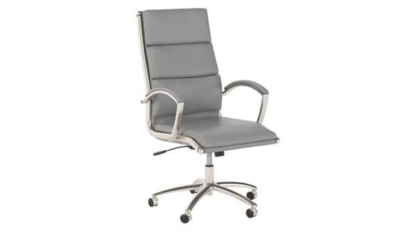 Office Chairs Bush Furniture High Back Leather Executive Chair
