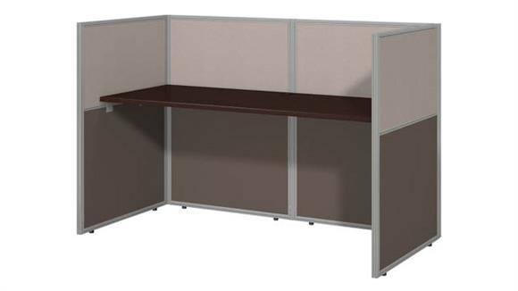 "Workstations & Cubicles Bush Furniture 60""W Straight Desk Closed Office"