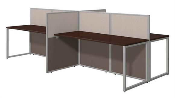 "Workstations & Cubicles Bush Furniture 60""W 4 Person Straight Desk Open Office"