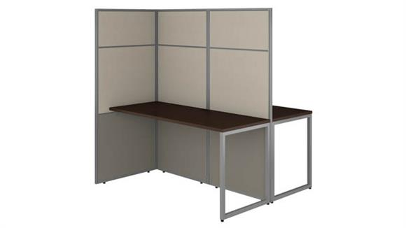 "Workstations & Cubicles Bush Furniture 60""W 2 Person Cubicle Desk Workstation with 66""H Panels"