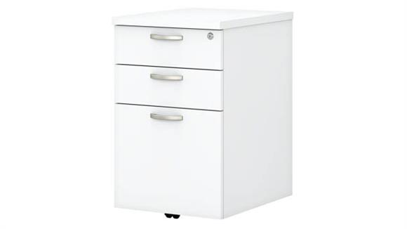 "Mobile File Cabinets Bush Furniture 16""W 3 Drawer Mobile File Cabinet"