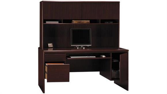 Office Credenzas Bush Furniture Computer Credenza with Hutch
