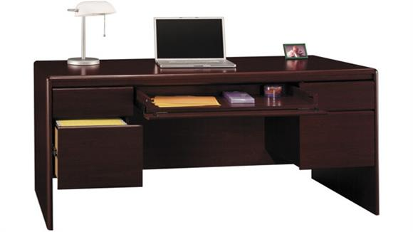 Executive Desks Bush Furniture Double Pedestal Desk with Center Drawer