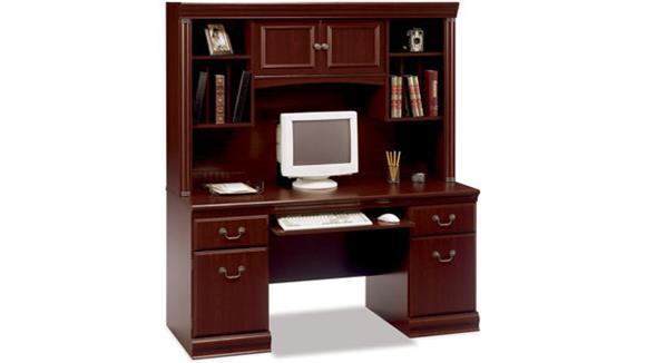 Office Credenzas Bush Furniture Executive Credenza with Hutch