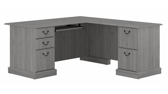 """L Shaped Desks Bush Furniture 66"""" L-Shaped Executive Desk"""