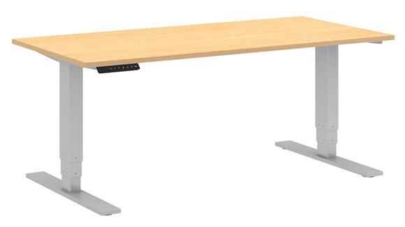 "Adjustable Height Desks & Tables Bush Furniture 48"" W x 24"" D Electric Height Adjustable Standing Desk"
