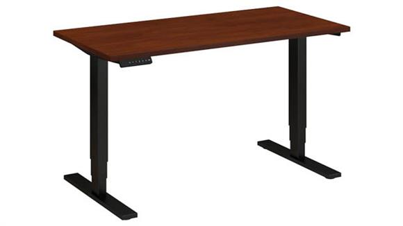 "Adjustable Height Desks & Tables Bush Furniture 48""W x 24""D Height Adjustable Desk"