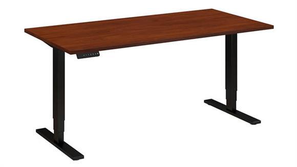 """Adjustable Height Desks & Tables Bush Furniture 60""""W x 30""""D Height Adjustable Desk"""