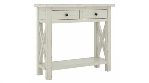 """Console Tables Bush Furniture 36"""" W Narrow Console Table with Drawers - Assembled"""