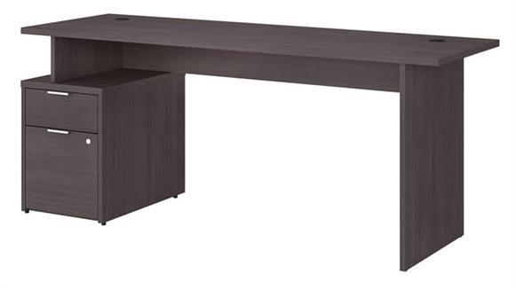 """Computer Desks Bush Furniture 72""""W Desk with 2 Drawer File Cabinet"""