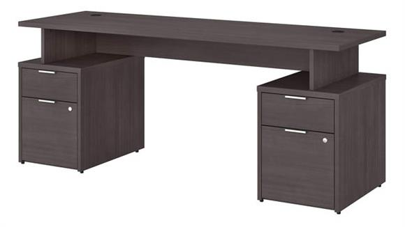 "Computer Desks Bush Furniture 72"" W Desk with 4 Drawers"