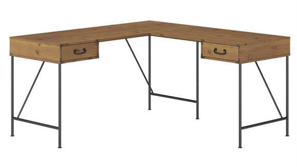 "L Shaped Desks Bush Furniture 60""W L-Shaped Writing Desk with Drawers"