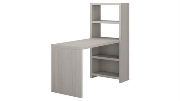 "Computer Desks Bush Furniture 56"" W Bookcase Desk"