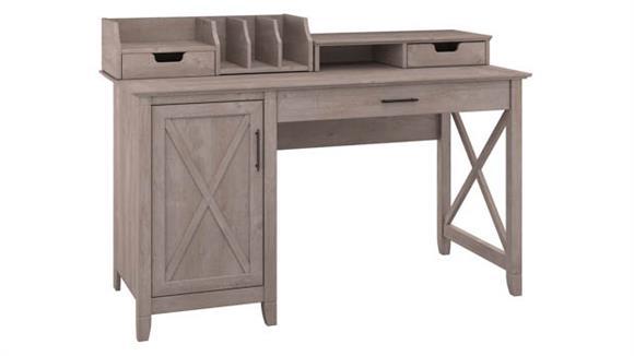 """Computer Desks Bush Furniture 54""""W Computer Desk with Storage and Desktop Organizers"""