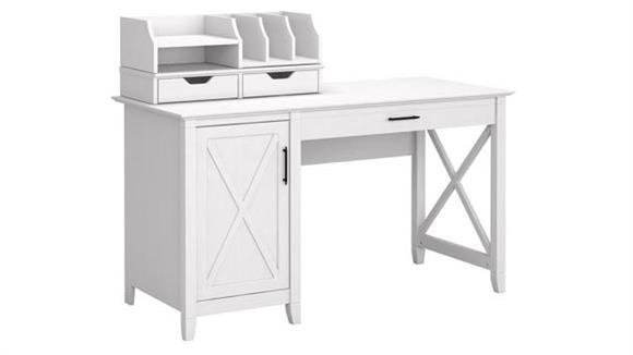 """Computer Desks Bush Furniture 54"""" W Computer Desk with Storage and Desktop Organizers"""