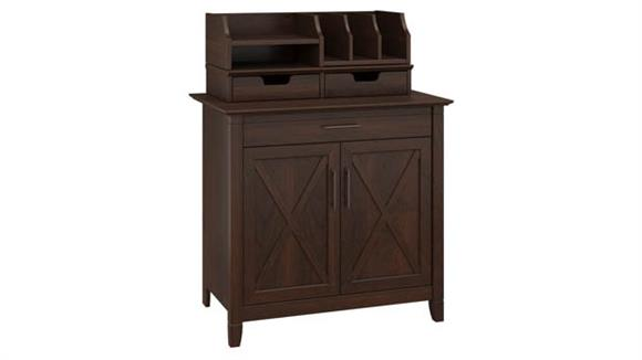 Compact Desks Bush Furniture Secretary Desk with 2 Desktop Organizers