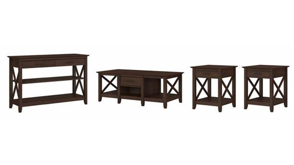 Coffee Tables Bush Furniture Coffee Table with Console Table and Set of 2 End Tables