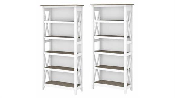 Bookcases Bush Furniture 5 Shelf Bookcase (Set of 2)