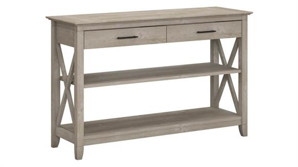 Console Tables Bush Furniture Console Table with Drawers and Shelves