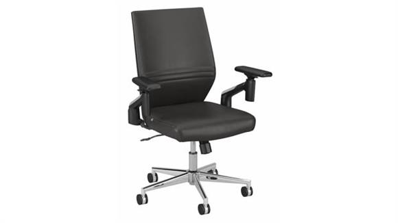 Office Chairs Bush Furniture Mid Back Leather Office Chair