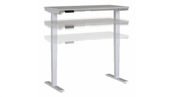 """Adjustable Height Desks & Tables Bush Furniture 48"""" W x 24"""" D Height Adjustable Standing Desk"""