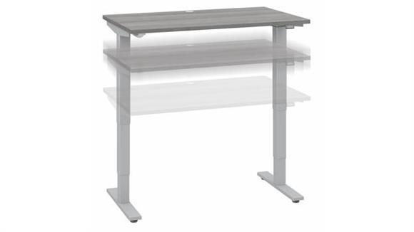 "Adjustable Height Desks & Tables Bush Furniture 48"" W x 30"" D Electric Height Adjustable Standing Desk"