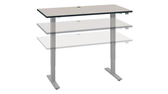 "Adjustable Height Desks & Tables Bush Furniture 60"" W x 30"" D Electric Height Adjustable Standing Desk"