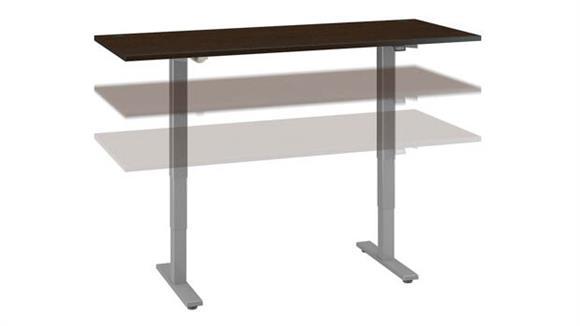 """Adjustable Height Desks & Tables Bush Furniture 72"""" W x 30"""" D Height Adjustable Standing Desk"""