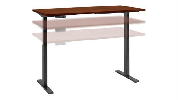 """Adjustable Height Desks & Tables Bush Furniture 60""""W x 30""""D Height Adjustable Standing Desk"""