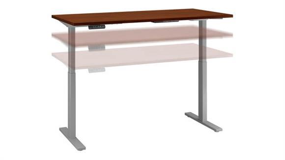 """Adjustable Height Desks & Tables Bush Furniture 60"""" W x 30""""D Height Adjustable Standing Desk"""