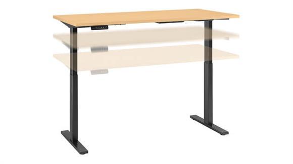 """Adjustable Height Desks & Tables Bush Furniture 72""""W x 30""""D Height Adjustable Standing Desk"""