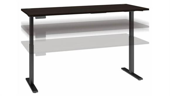"Adjustable Height Desks & Tables Bush Furniture 72""W x 30""D Electric Height Adjustable Standing Desk"