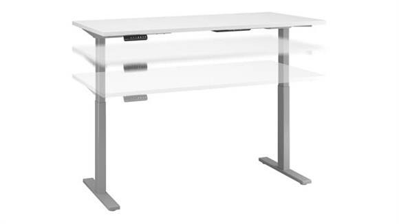 "Adjustable Height Desks & Tables Bush Furniture 72"" W x 30""D Electric Height Adjustable Standing Desk"