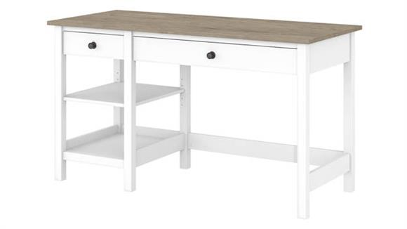 "Computer Desks Bush Furniture 54""W Computer Desk with Shelves"